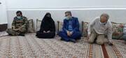 دیدار مدیرکل ستاد اجرایی فرمان حضرت امام (ره) هرمزگان با خانواده شهید بذر افشان